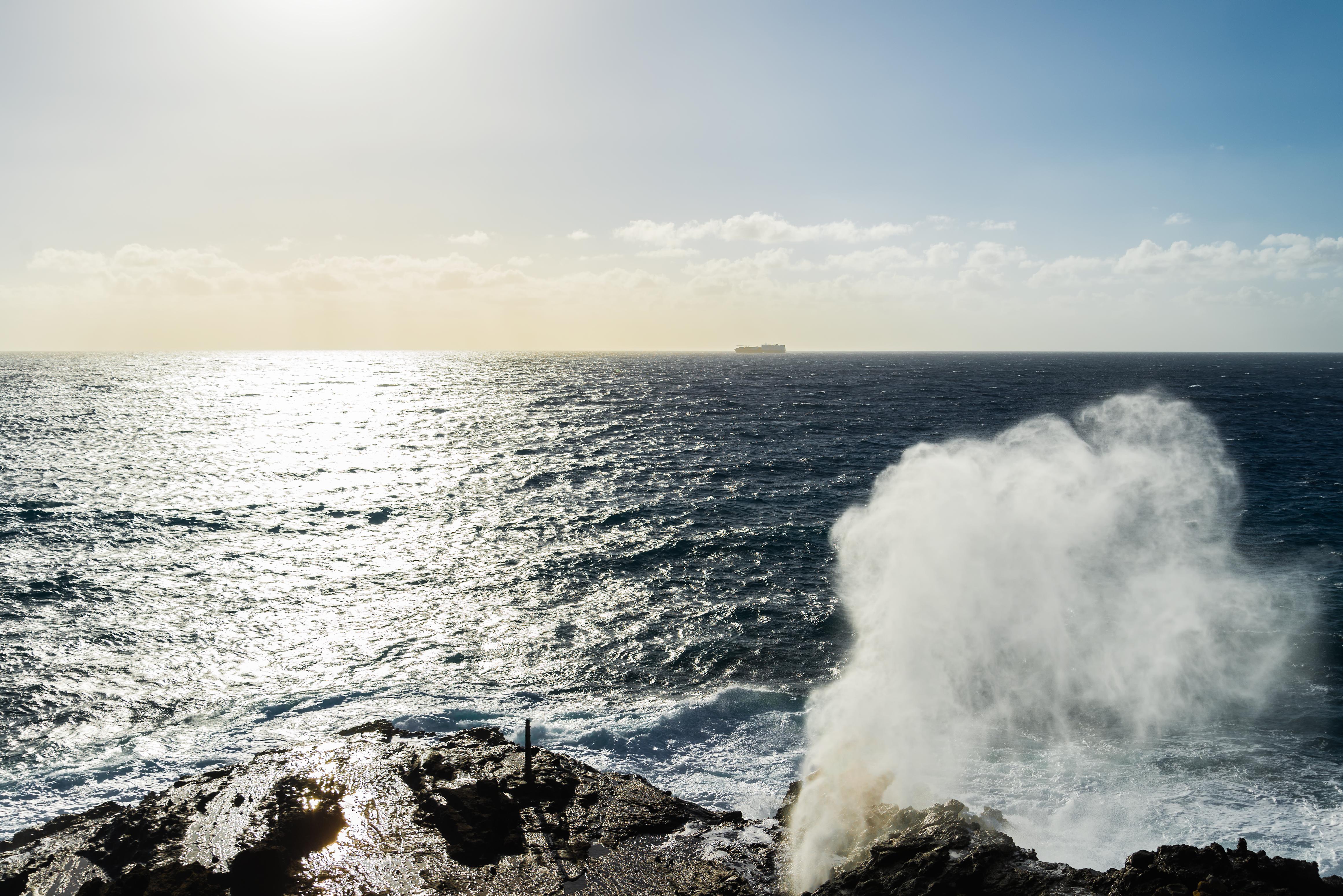 Halona Blowhole on the island of O'ahu[OC][4643x3099]